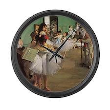 Edgar Degas Dancing Class Large Wall Clock