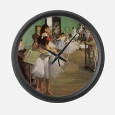 Edgar Degas Dancing Class Large Wall Clock