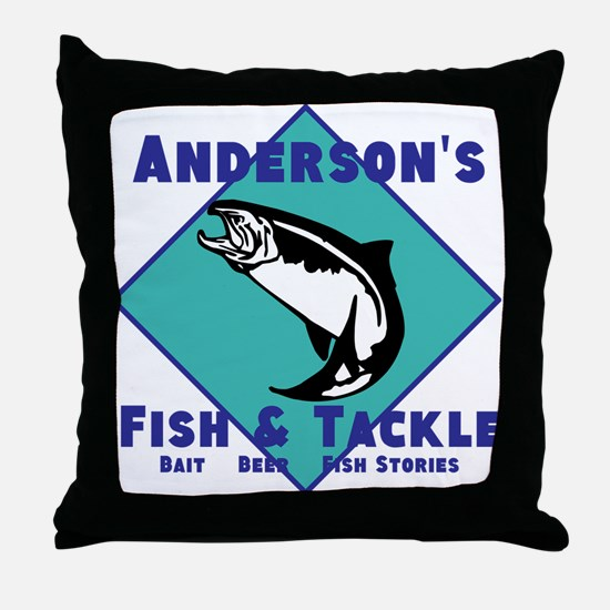 Personalized fishing Throw Pillow