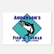 Personalized fishing Postcards (Package of 8)