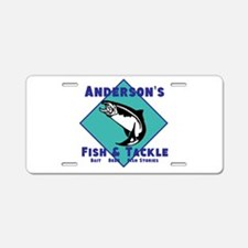 Personalized fishing Aluminum License Plate