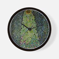 Gustav Klimt The Sunflower Wall Clock
