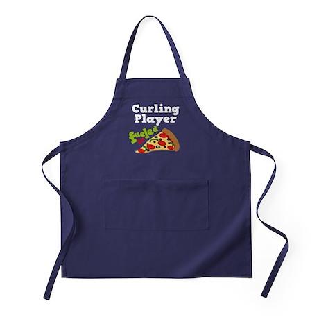 Curling Player Pizza Apron (dark)