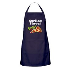 Curling Player Pizza Apron (dark)