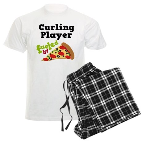 Curling Player Pizza Men's Light Pajamas