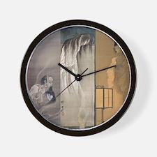 Kawanabe Kyosai 3 Ghosts Wall Clock