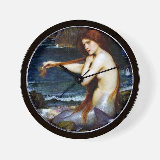 John William Waterhouse Mermaid Wall Clock