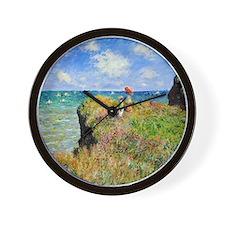 Claude Monet Clifftop Walk Wall Clock