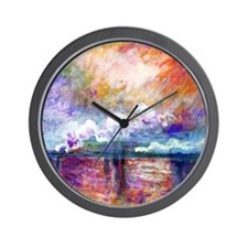Funny Painting by claude monet Wall Clock