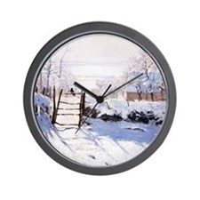 Claude Monet The Magpie Wall Clock