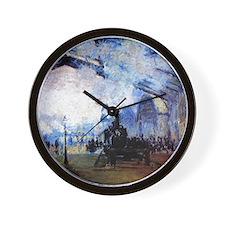 Cute Paintings of paris Wall Clock