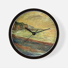 Monet Beach at Pourville Wall Clock