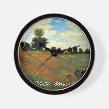 Cute Poppies france Wall Clock