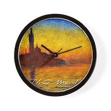 Monet Twilight Venice Wall Clock