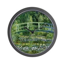 Monet Japanese Bridge Wall Clock