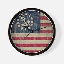 Vintage America Yacht Flag Wall Clock