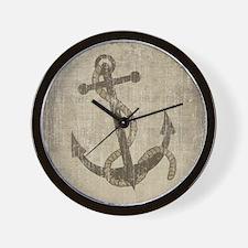 Vintage Anchor Wall Clock