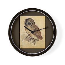 Durer The Little Owl Wall Clock