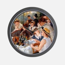 Cute Renoir luncheon of boating party Wall Clock