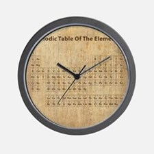 Vintage Periodic Table Wall Clock