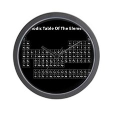 Black Periodic Table Wall Clock