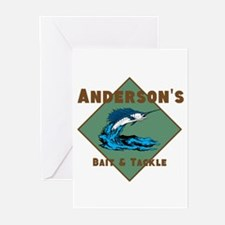 Personalized fishing Greeting Cards (Pk of 20)