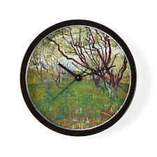 Van Gogh Cherry Tree Wall Clock