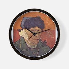 Van Gogh Self Portrait Wall Clock