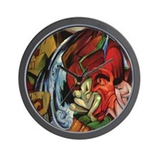 Franz Marc The Waterfall Wall Clock