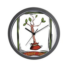 Arbor Day Wall Clock