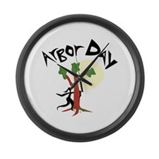 Arbor Day Large Wall Clock