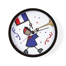 France Holiday Wall Clock