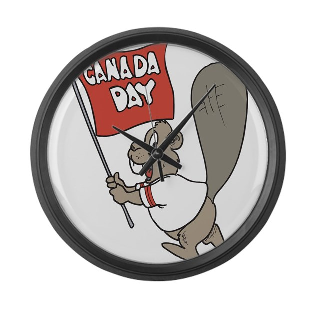 canada day beaver large wall clock by iloveyou1