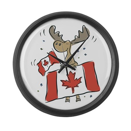 canada day moose large wall clock by iloveyou1