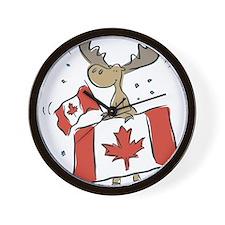 Canada Day Moose Wall Clock
