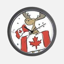 Canada Day Moose Wall Clock