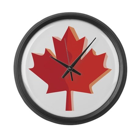canada day large wall clock by iloveyou1
