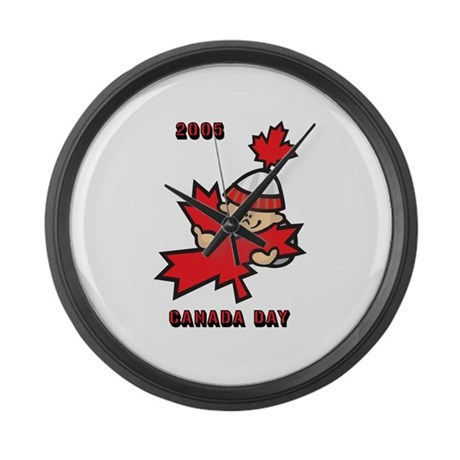 Canada day 2005 large wall clock by iloveyou1 for Oversized wall clocks canada