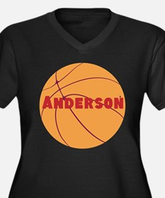 Personalized Basketball. Women's Plus Size V-Neck