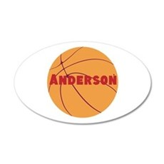 Personalized Basketball. 20x12 Oval Wall Decal