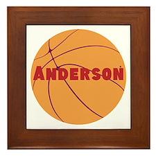 Personalized Basketball. Framed Tile