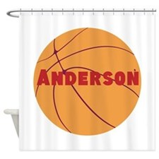 Personalized Basketball. Shower Curtain
