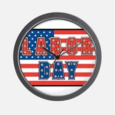 USA Labor Day Wall Clock