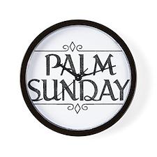 Vintage Palm Sunday Wall Clock