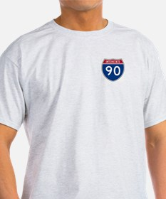I-90 Interstate Hwy Ash Grey T-Shirt