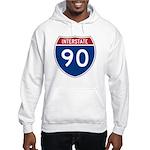 I-90 Interstate Hwy Hooded Sweatshirt