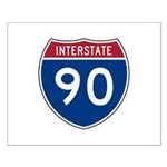 I-90 Interstate Hwy Small Poster