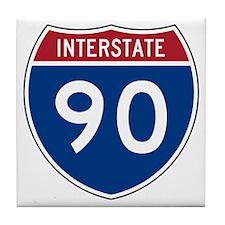 I-90 Interstate Hwy Tile Coaster