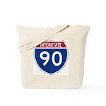 I-90 Interstate Hwy Tote Bag