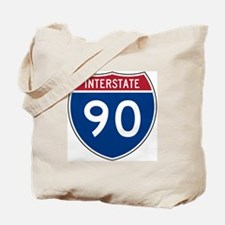 I-90 Interstate Hwy Tote Bag